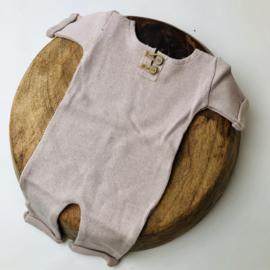"""Newborn Onesie - Knitted Collection """"Baby"""" - Sand"""