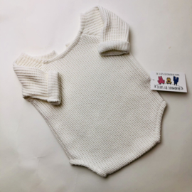 Romper Knitted Collection  - ecru- Size 80