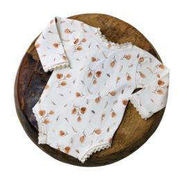 Newborn Romper - Flower Collection - Cognac tulip Lace