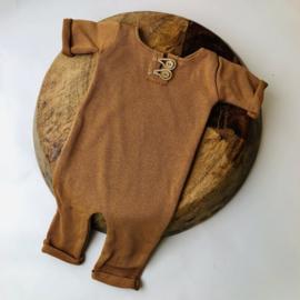 "Newborn Onesie - Knitted Collection ""Baby"" - Camel"