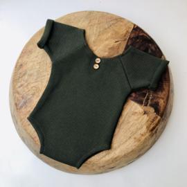 Newborn romper - Special - Moss Green