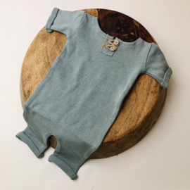 """Newborn Onesie - Knitted Collection """"Baby"""" - Old Mint"""