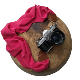 Camera Strap - Rose - Camel leather