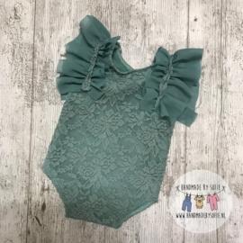 Romper Lace  - Mint - Size 80
