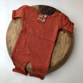"Newborn Onesie - Knitted Collection ""Baby"" - Rusty"