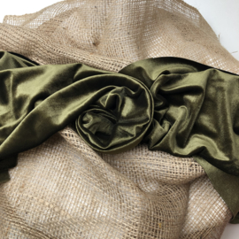 Wrap/ Layer - Velvet Collection - Moss green