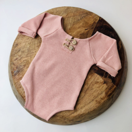 """Newborn Romper - Knitted Collection """"Baby"""" - Rose"""