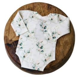 Newborn Romper - Flower Collection - Rose Eucalyptus