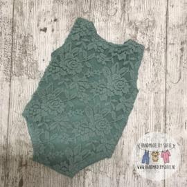 Romper Lace  - Mint - Size 74