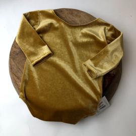 Sitter Romper - Velvet - Gold - size 80