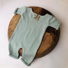 "Newborn Onesie - Knitted Collection ""Baby"" - Mint"