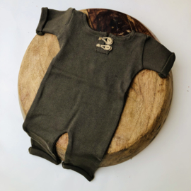 "Newborn Onesie - Knitted Collection ""Baby"" - Moss Green"