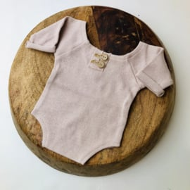 """Newborn Romper - Knitted Collection """"Baby"""" - Sand"""