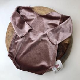 Sitter Romper - Velvet - Old Pink - size 80