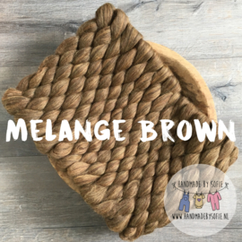 Bump Blanket - Melange Brown - RTS