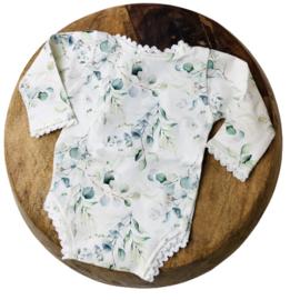Newborn Romper - Flower Collection - Eucalyptus Lace