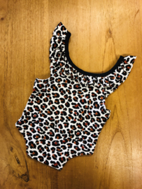 Romper newborn - jungle - brown