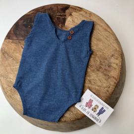 Newborn Romper  - Jeans Blue
