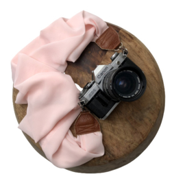 Camera Strap - Light Rose - Camel leather