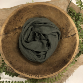 Organic Cotton Collection - Layer / Wrap - moss green