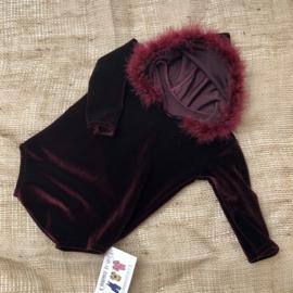 Romper - Bordeaux Velvet - Size 74