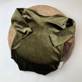 Sitter Romper - Velvet - Moss green - size 80