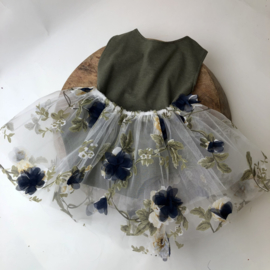 Romper - Moss Green Blue - Size 80