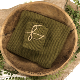 "Knitted Collection - Wrap ""BIG Knit"" - Olive"