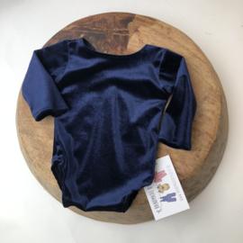 Newborn Romper velvet - Blue