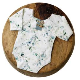 Newborn Romper - Flower Collection - Eucalyptus old mint