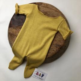 Newborn - Onesie Luxury Collection - mustard