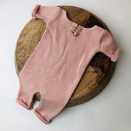 "Newborn Onesie - Knitted Collection ""Baby"" - Rose"