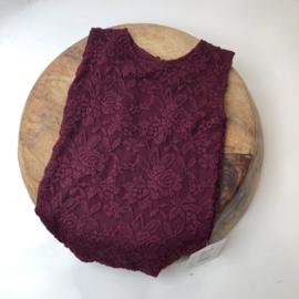 Romper - Bordeaux lace - Size 80