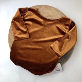 Sitter Romper - Velvet - Cognac - size 80