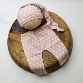 Newborn - Pants & Hat  - rose star