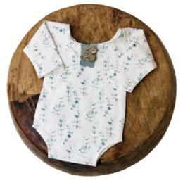 Newborn Romper - Flower Collection - mini eucalyptus old mint