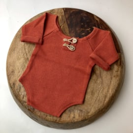 """Newborn Romper - Knitted Collection """"Baby"""" - Rusty"""