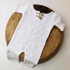 """Newborn Onesie - Knitted Collection """"Baby"""" - Ecru"""