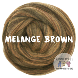 Round Blanket - MELANGE BROWN - Pre Order (2 - 6 weeks )
