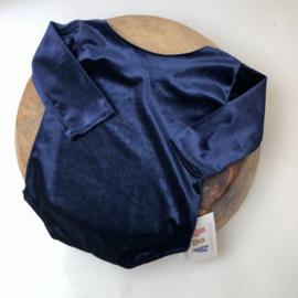 Sitter Romper - Velvet - Blue - size 80