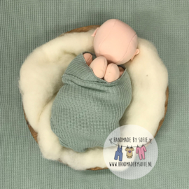 "Knitted Collection - Wrap ""BIG Knit"" - Mint"
