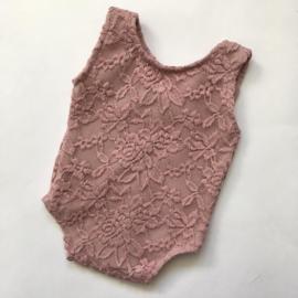 Romper oud roze gevoerd newborn