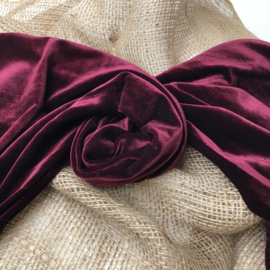 Wrap/ Layer - Velvet Collection - Bordeaux