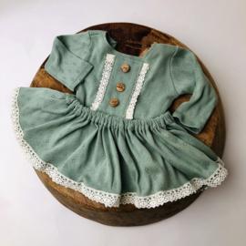 Newborn Romper met los rokje Special collection - Mint