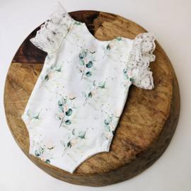 Newborn - Flower Collection - Rose Eucalyptus Romper