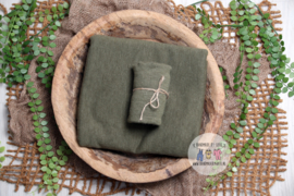 Luxury Collection - Stretch Wrap  - Moss Green