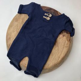 """Newborn Onesie - Knitted Collection """"Baby"""" - Marine Blue"""