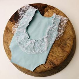 Romper lace - soft mint