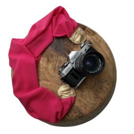 Camera Strap - Rose - Gold leather