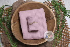 "Knitted Collection - Backdrop ""Waffle"" - Old Pink"